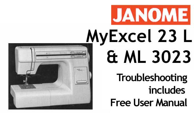 Troubleshooting Janome New Home ML 3023